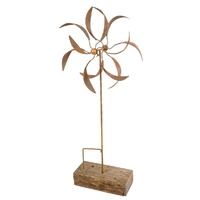 Double Wind Spinner Outdoor Garden Stake
