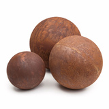 Corten Steel Ball Outdoor Sculpture