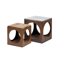 Cube Furniture Outdoor Metal Sculpture