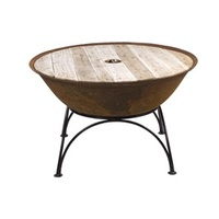 Wooden BOB Top for Cast Iron Fire Pit/Pond/Planter