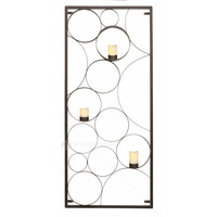 Natural Rustic Bubble Candle Panel - Rectangular