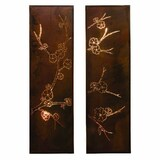 Laser Cut Wall Art Panels - Pair Of Blossom