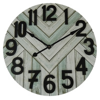 Black Stripe Number Wall Clock