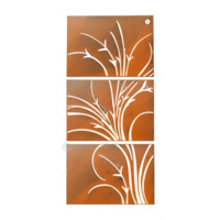 Triptych Architexural  Wall Art - Swirl Grass