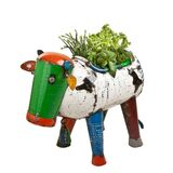 EEIEEIO Metal Animal Clarence the Cow Planter Medium