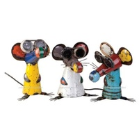 EEIEEIO Set of Three Blind Mice - Tom, Dick and Harry Outdoor Garden Art Decor Ornament Sculpture