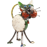 EEIEEIO Metal Animal Tabitha Cat Garden Art Sculpture