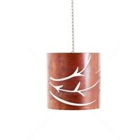 Mild Steel Rustic Outdoor Light Pendant - Swirl