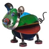 EEIEEIO Pete the Pig Metal Animal Art