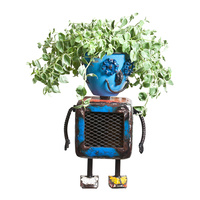 EEIEEIO Robot Planter Small Outdoor Garden Sculpture