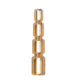 Outdoor Metal Garden Sculpture Totem Groove