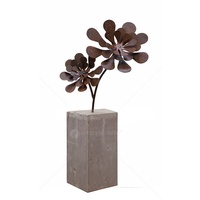 Outdoor Rustic Sculpture - Flower