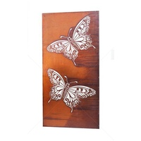 Natural Rust Screen - Two Butterflies Flat