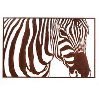 Outdoor Laser Cut Wall Art - Rusty Zebra