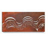Rusted Mild Steel Ocean Wall Art - Surf Wave #2