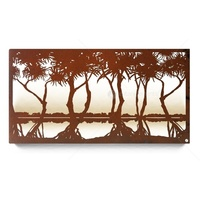 Pandanus Laser Cut Steel Wall Art