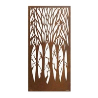 Bare Forest Screen Outdoor Metal Wall Art