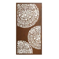 Growth Rings Steel Outdoor Metal Wall Art