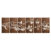 Tropical Bird Sequence Outdoor Laser Cut Wall Art