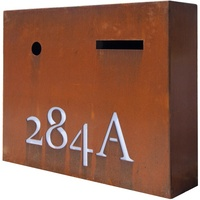 Large Lit Steel Outdoor Letterbox