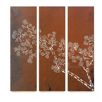 Natural Rust Hanging Wall Panel - Ceder Triptych