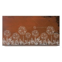 Natural Rust Wall Art - Dandelion Field