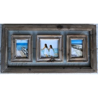 Rustic Brown Timber 3 Photo Frame Wall Decor