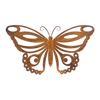 Butterfly Fleur Metal Outdoor Garden Sculpture