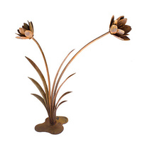 Flower Reed Metal Garden Art Sculpture