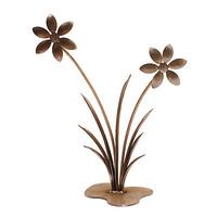Double Daisy Outdoor Garden Sculpture