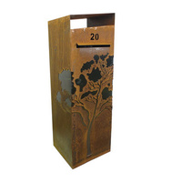 Gum Tree Steel Outdoor Letterbox