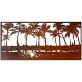 The Palm Horizon Outdoor Laser Cut Wall Art