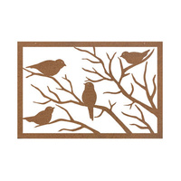 Sparrow Outdoor Metal Wall Art I