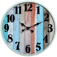 Beach Slats Wall Clock