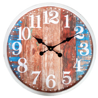 Rusted Boards Wooden Boards Blue Look Wall Clock