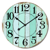 Vintage Teal Green Wall Clock
