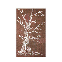 Decorative Metal Privacy Screen Gnarled Tree