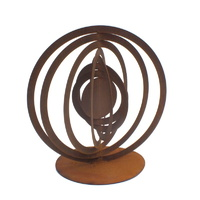 Abstract Small Sol Outdoor Metal Sculpture