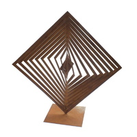 Abstract Square Sol Outdoor Metal Sculpture