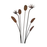 Bird of Paradise Outdoor Garden Stake Set