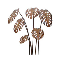 Monstera Outdoor Garden Stake Set