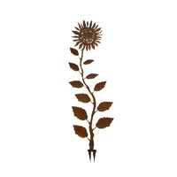 Metal Sunflower Wedge Garden Stake