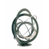 Medium Freestanding Contemporary Sculpture - Stainless Sphere 74 cm