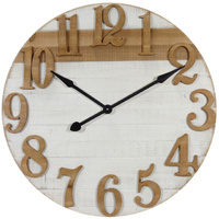 Large Wooden Natural Wall Clock