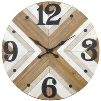Large Wooden Black Numbers Wall Clock