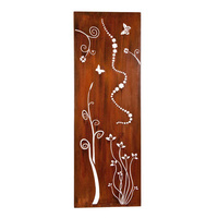 Mild Steel Wall Art - Tall Cartoon Flower Box