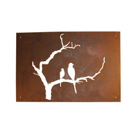 Outdoor Wall Sculpture - Bird Branch Panel