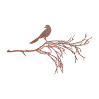 Mild Steel Wall Art - Bird Branch