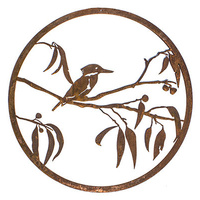 Kingfisher Gum Branch Outdoor Steel Wall art