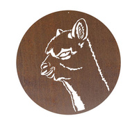 Alpaca Metal Wall Art